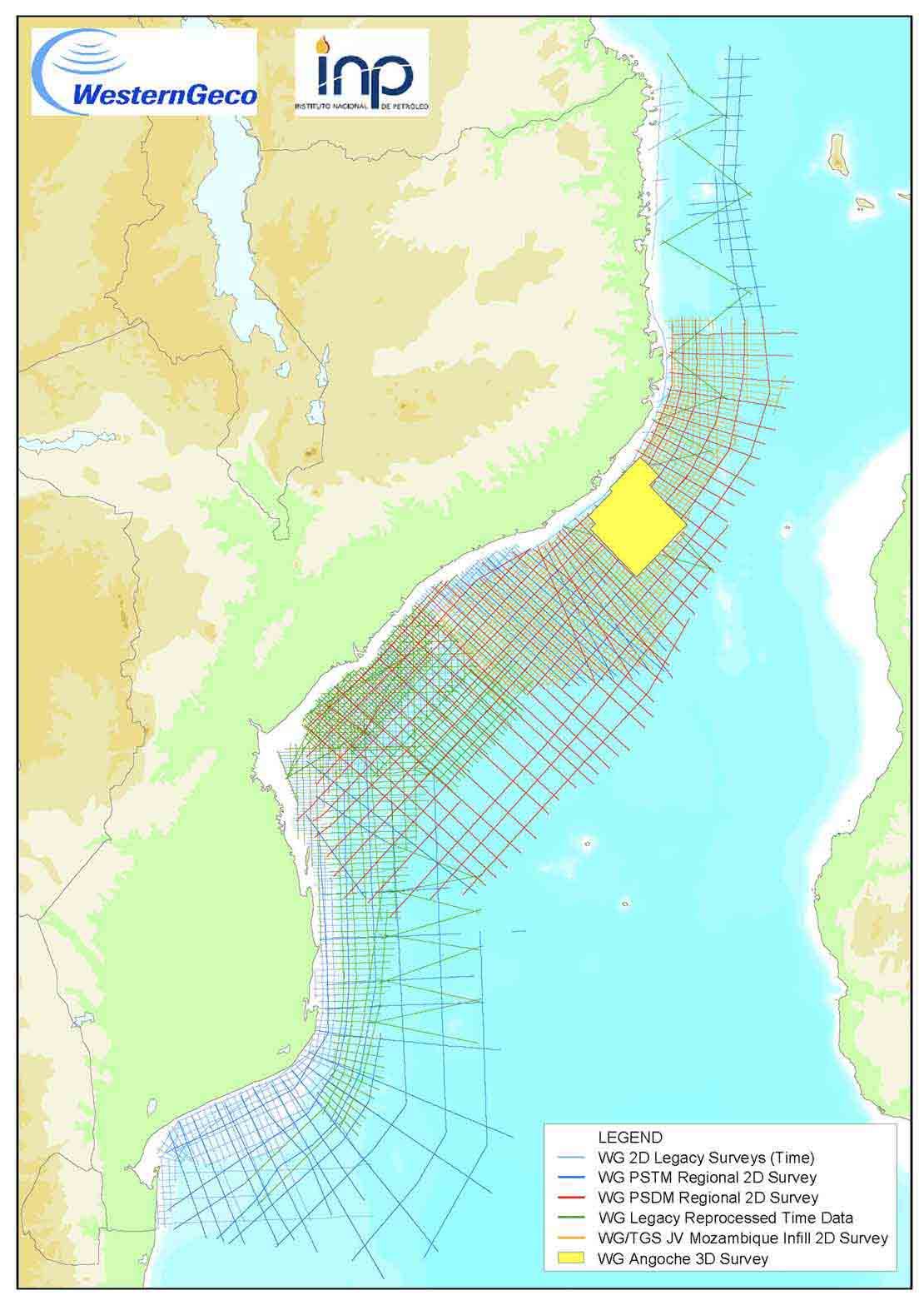 Mozambique map for 2020 licensing bid