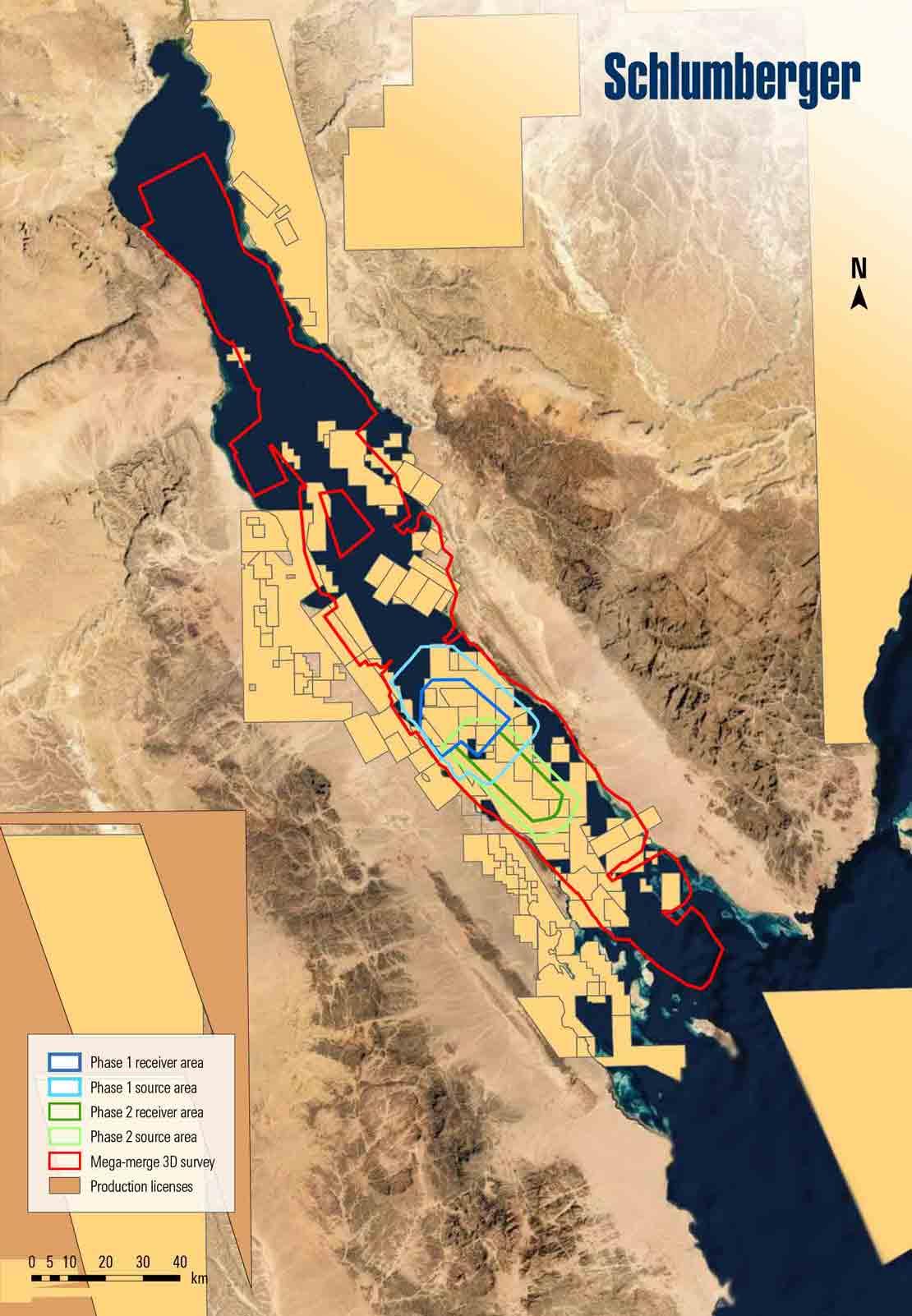Gulf of Suez acquisition area