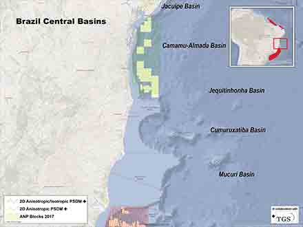 Brazil Central Basin Multiclient Seismic Surveys