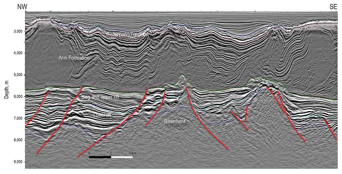 Reprocessed seismic data from Sépia Field, Santos Basin, Brazil.