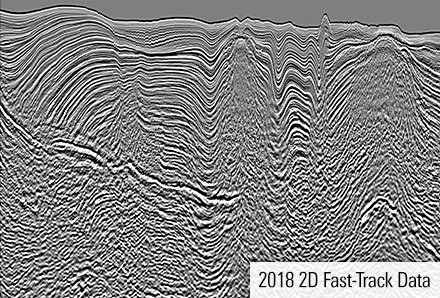 Data of fast track 2D seismic for Egypt, Red Sea.