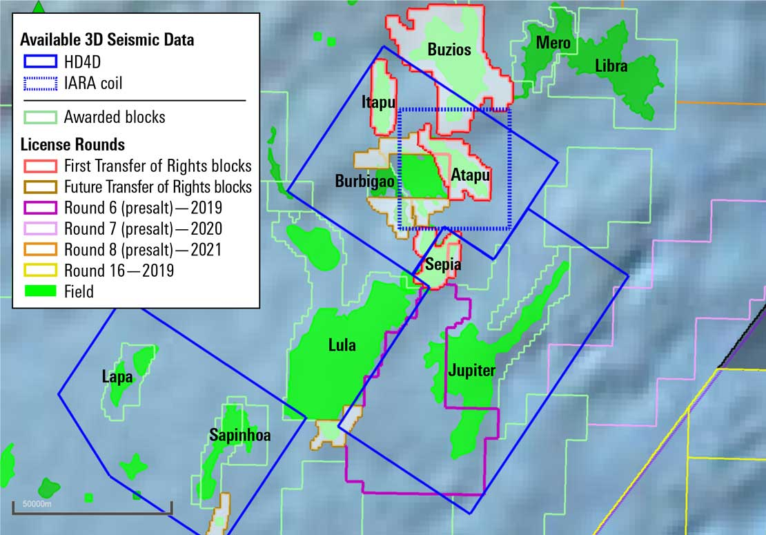 3D seismic data of Santos Basin