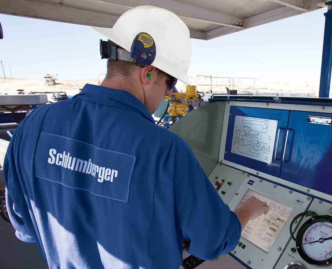 Schlumberger Worker On Rigsite