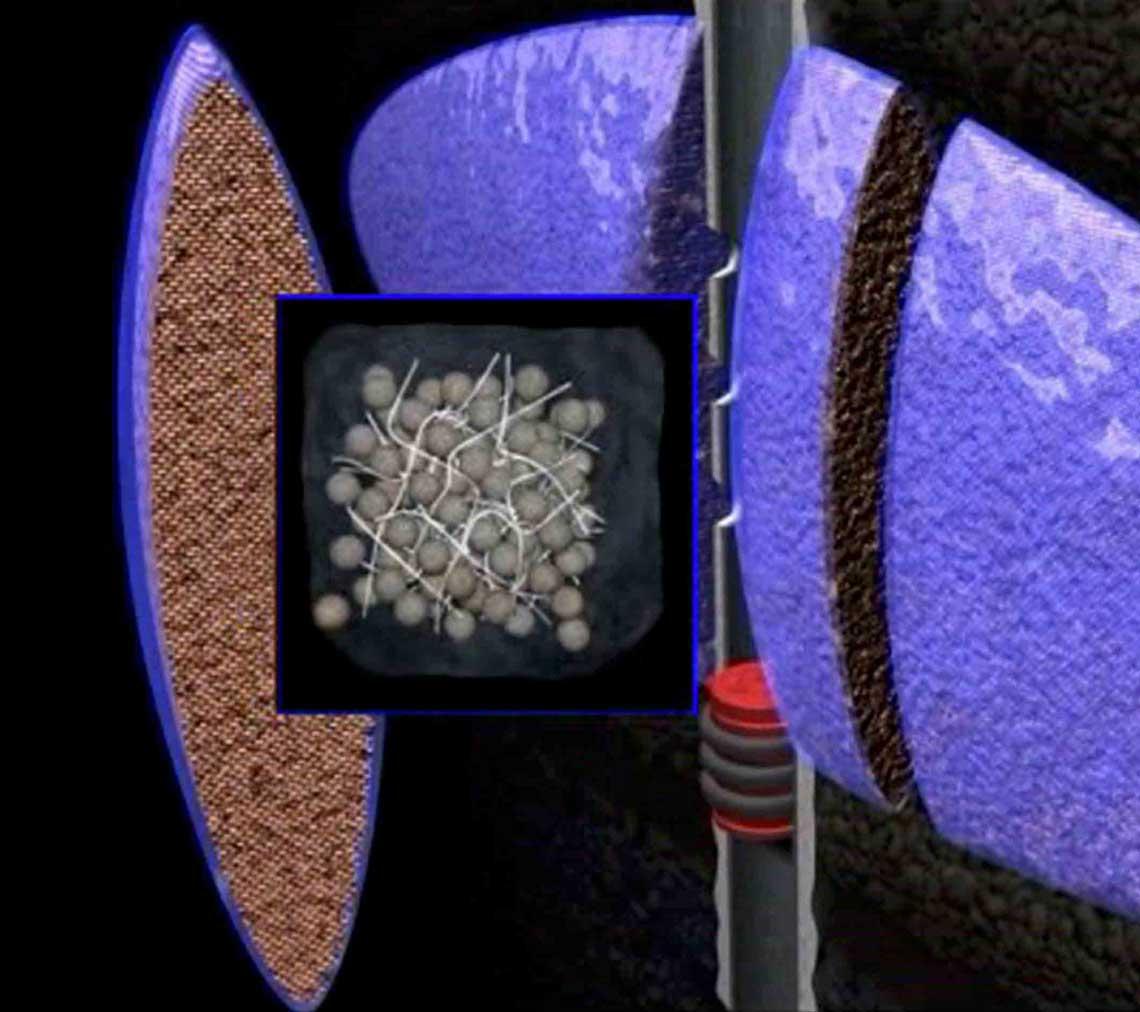 Fiber-based mechanical support for proppant pack.