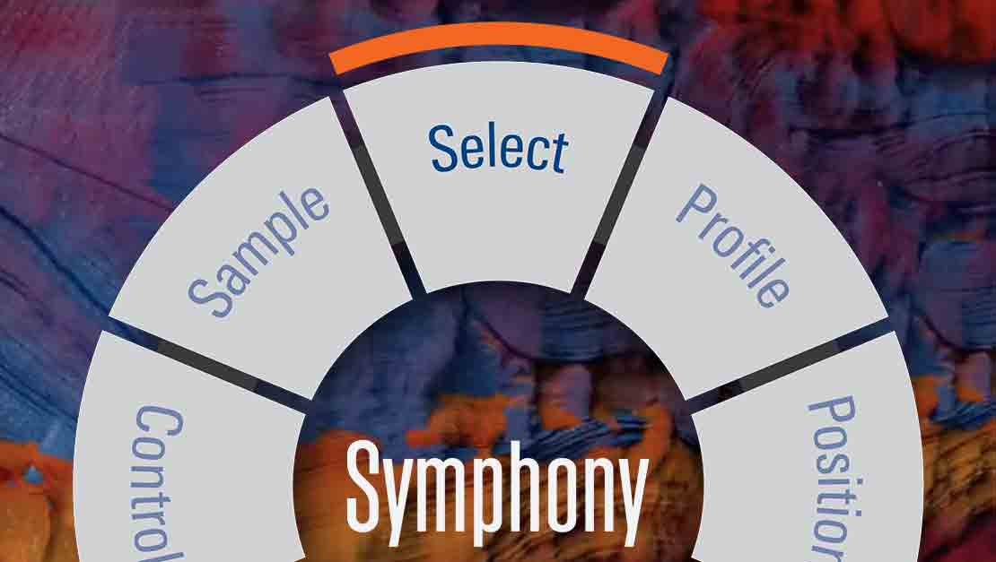 Image Symphony testing wheel  with Select chosen