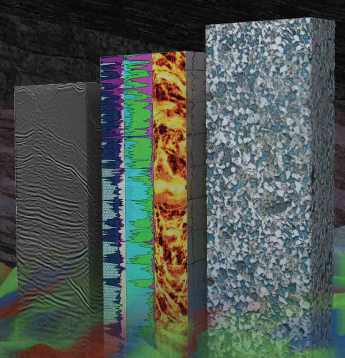Rock and fluid analysis image as part of services provided in Schlumberger reservoir labs.
