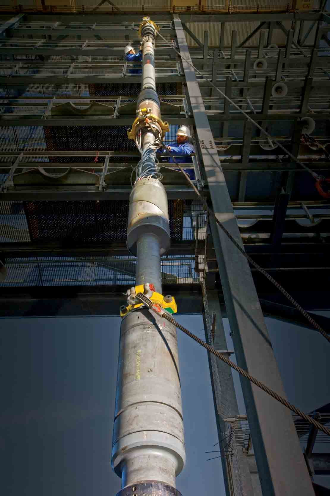 Operating a SenTREE system on an offshore rig.