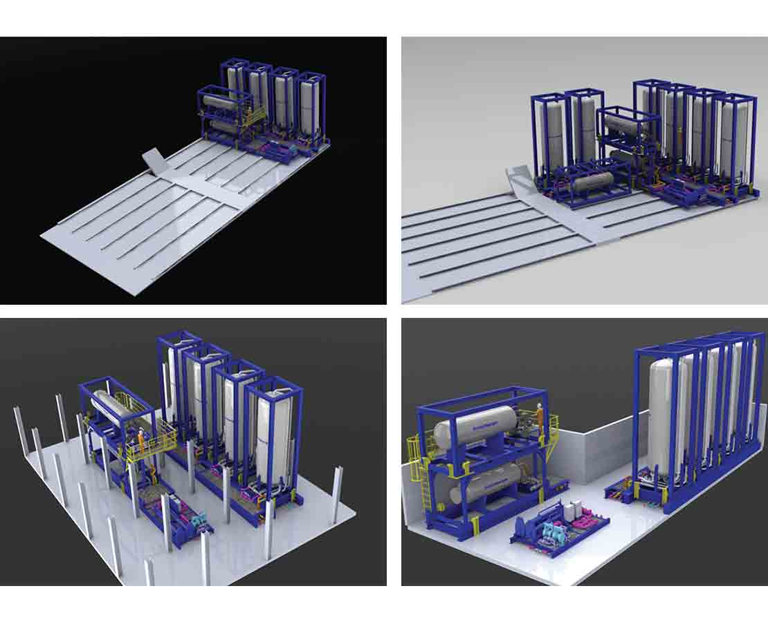 Modular compact well test system configurations