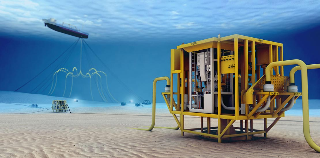 3D rendering of subsea electric filed