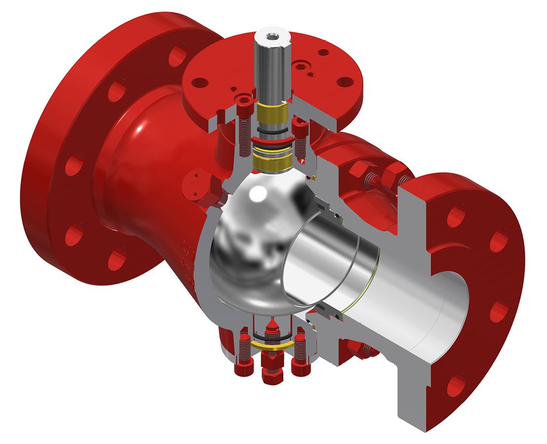 AOP Series D2 ball valve.
