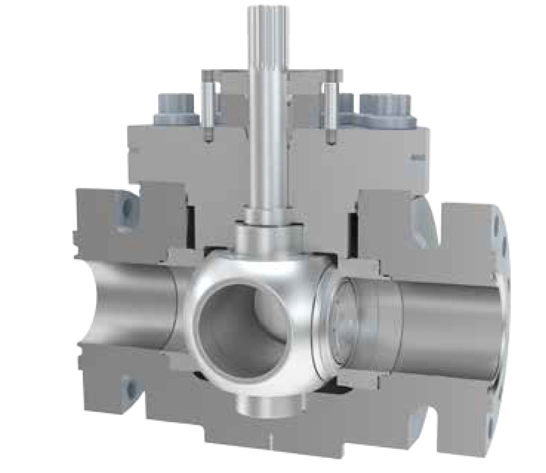 Cutaway of a GROVE IST ball valve