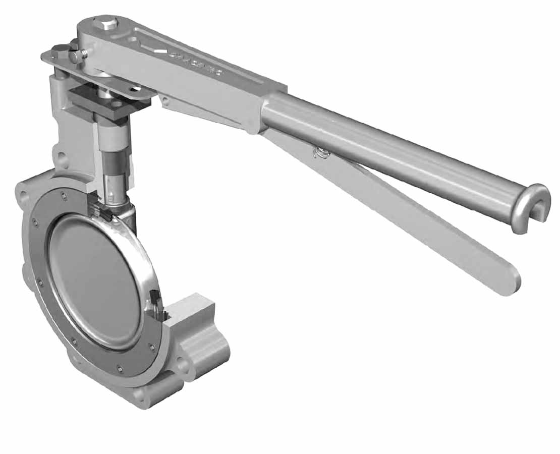 WKM double offset valve 3D rendering