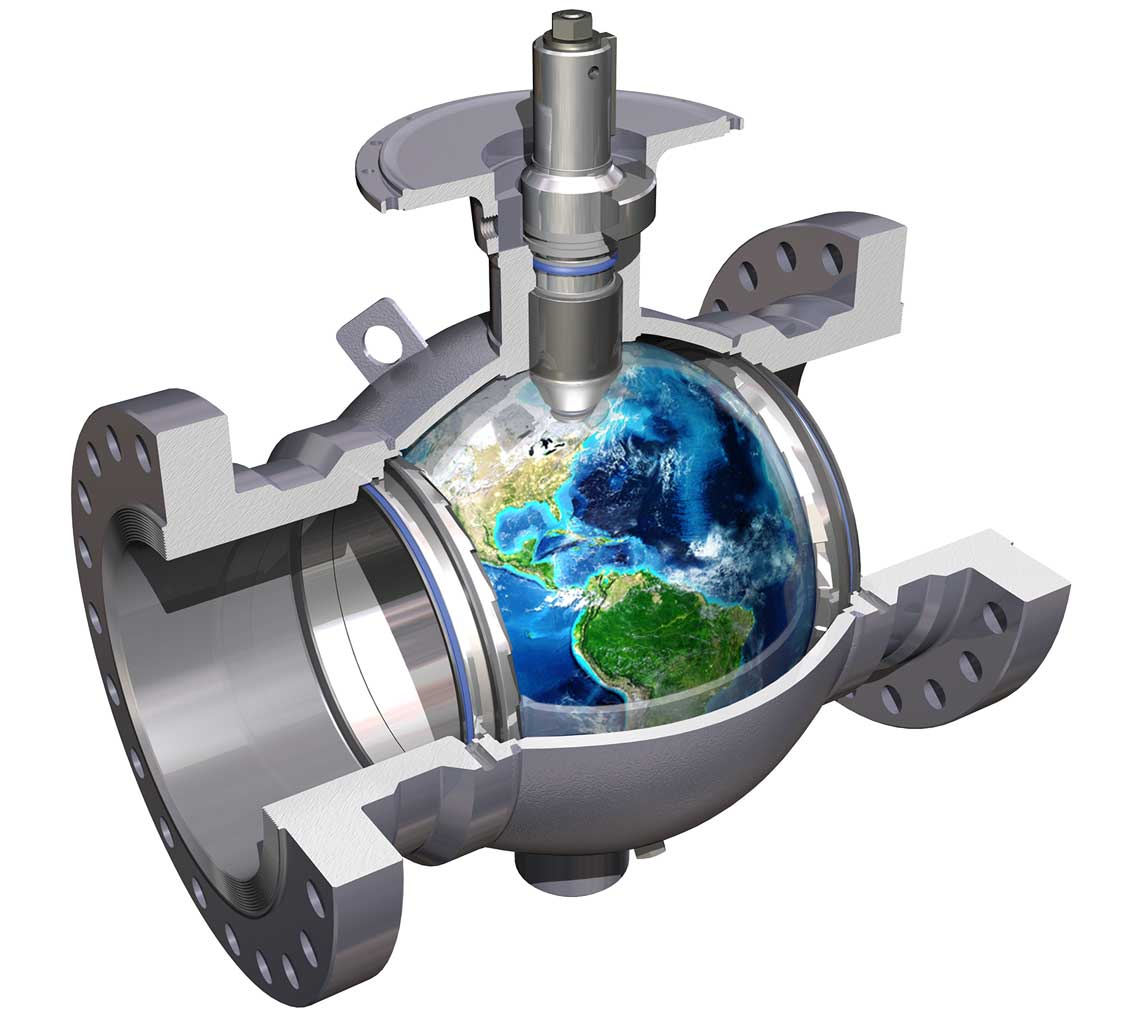 Cameron T30 Ball valve with a globe inside