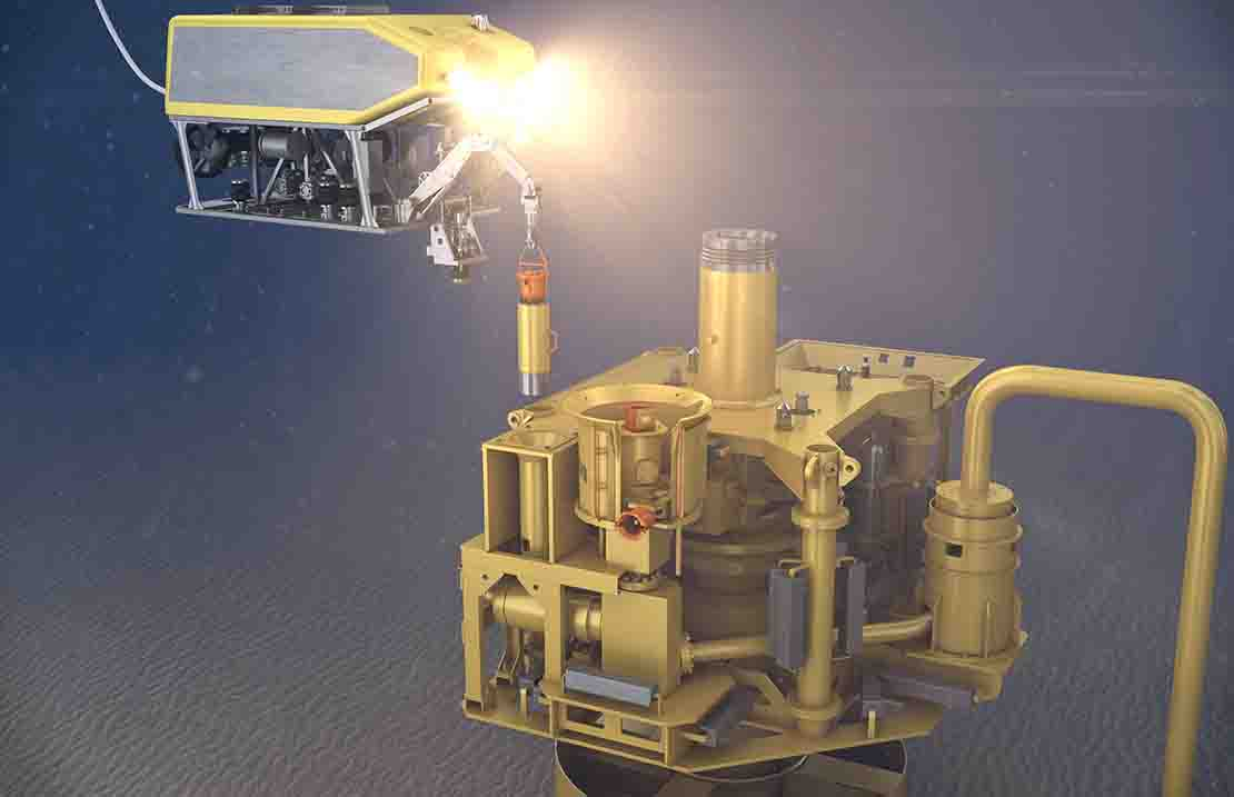 Insertion of low-flow PULSE CIMV subsea.