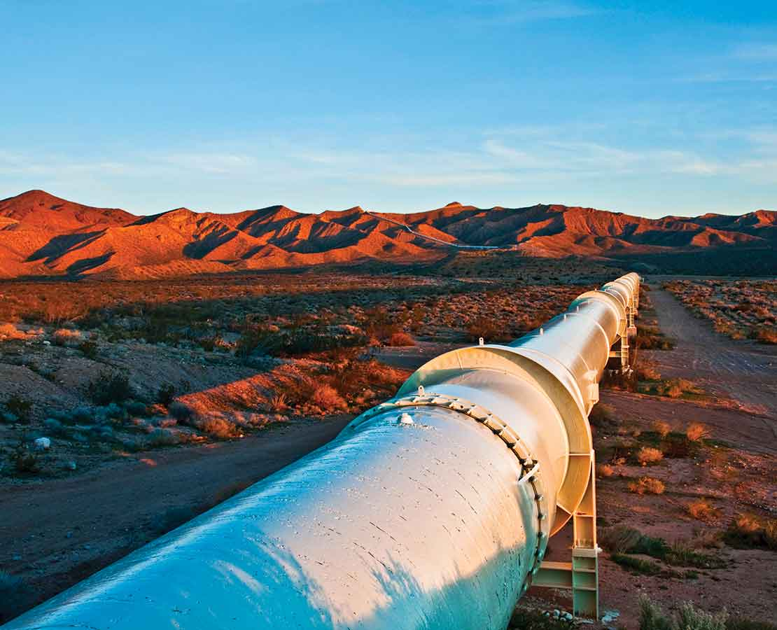 Pipeline in the field.