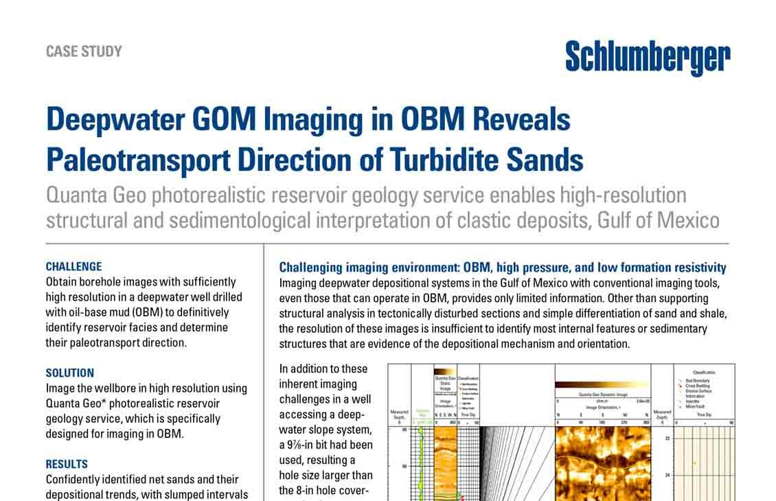 Deepwater GOM Imaging in OBM Reveals Paleotransport Direction of Turbidite Sands